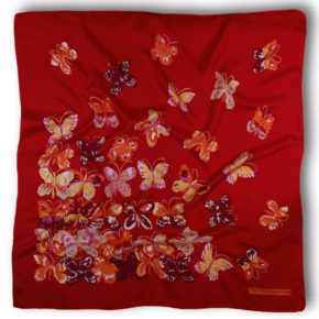 5429T90 - Dufy - Papillons - rouge